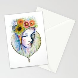Flowers in my Mind Stationery Cards