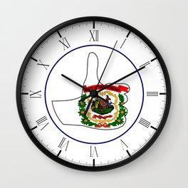 Thumbs Up West Virginia Wall Clock