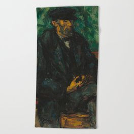 Paul Cézanne - The Gardener Vallier Beach Towel