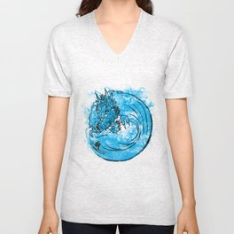 Dragon Waves Unisex V-Neck