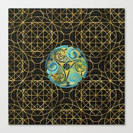 Decorative Triquetra Celtic Ornament Canvas Print