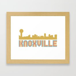 Vintage Style Knoxville Tennessee Skyline Framed Art Print