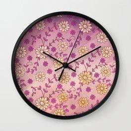 Vintage Floral 4 Wall Clock