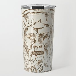 the mouth of truth Travel Mug
