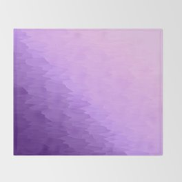 Lavender Texture Ombre Throw Blanket