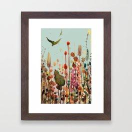 learning to fly Framed Art Print