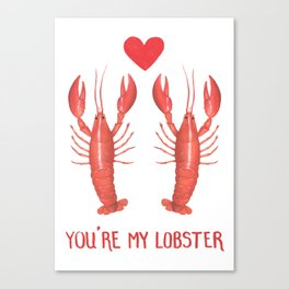 Lobster Love Canvas Print