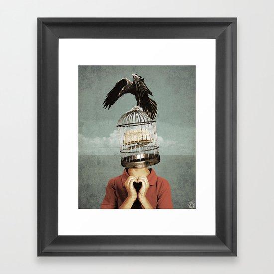 metaphorical assistance Framed Art Print