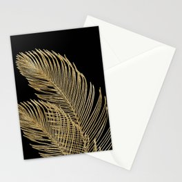 Palm Leaves Finesse Line Art with Gold Foil #1 #minimal #decor #art #society6 Stationery Cards