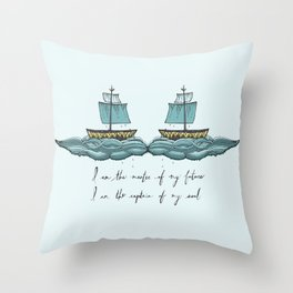 Captain of My Soul Throw Pillow