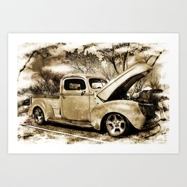 1940 Ford Pick up Truck Art Print