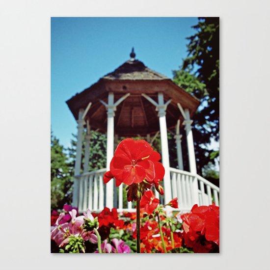 Gazebo flower Canvas Print