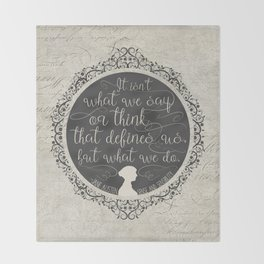 Sense And Sensibility - It's What You Do Throw Blanket