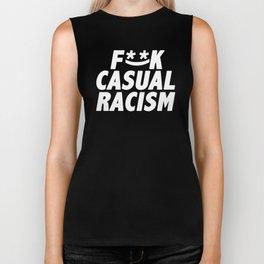 F**K Casual Racism (Alternate Edition) Biker Tank