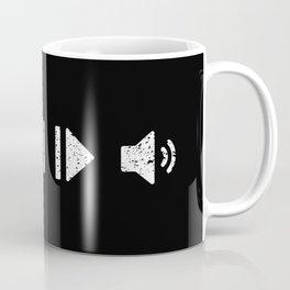 White Music Controls Coffee Mug