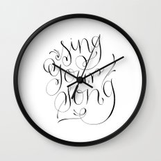 Sing Your Song Wall Clock