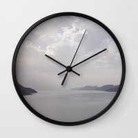 greece Wall Clocks featuring Kalymnos Greece by Dream Of Forest
