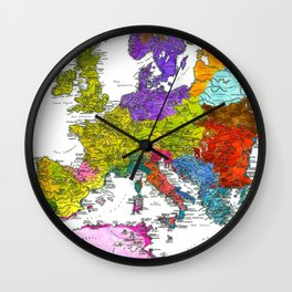 The Peoples of Europe According to Ptolemy Wall Clock