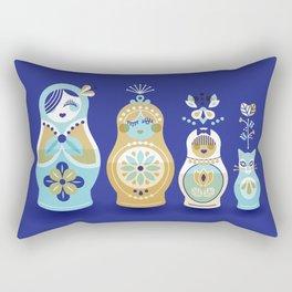 Russian Nesting Dolls – Navy Rectangular Pillow