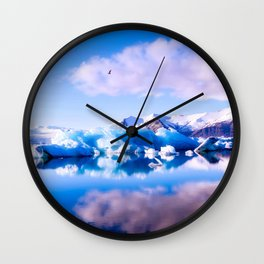 Glacial Dreams Wall Clock