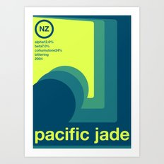 pacific jade single hop Art Print