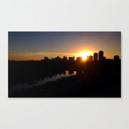 Edmonton October Skyline, Sheriff Robertson-Kinnaird Park Canvas Print
