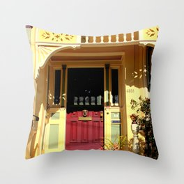 Stage Door - 1889 - No Soliciting Throw Pillow