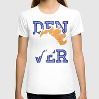 denver T-shirts featuring Denver Orange by d.bjorn