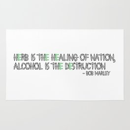 HERBS AND ALCOHOL Rug