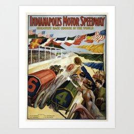 Vintage poster - Indianapolis Motor Speedway Art Print