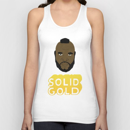 Solid Gold Unisex Tank Top