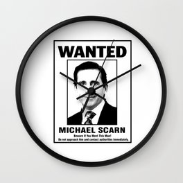 Michael Scarn Wanted Poster Wall Clock