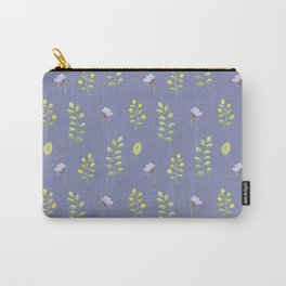 Modern hand painted lilac violet watercolor floral leaves Carry-All Pouch