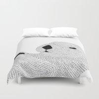 otter Duvet Covers featuring Otter by Meg Lang