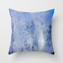 Lake Michigan Natural Fountains #3 (Chicago Waves Collection) Throw Pillow