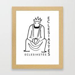 Ecclesiastes Framed Art Print