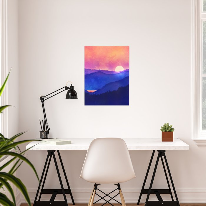 Cobalt Mountains Poster