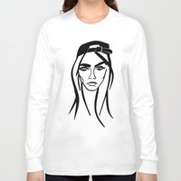 cara delevingne Long Sleeve T-shirts featuring Cara Delevingne by Nobody People
