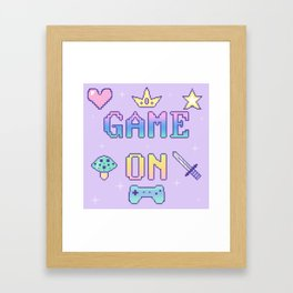 Game On (pastel) Framed Art Print