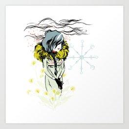 Funeral Lillies Art Print