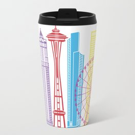 Seattle V2 skyline pop Travel Mug