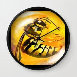 Frozen Wasp Wall Clock