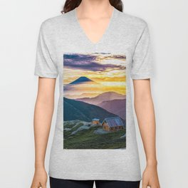 Mt Fuji I Unisex V-Neck