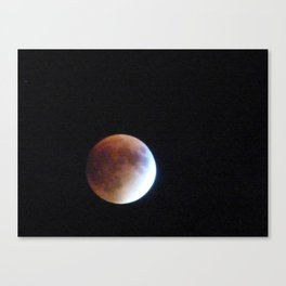 Supermoon Eclipse 3 Canvas Print