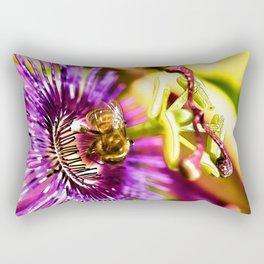 Passion Flower Bee  Rectangular Pillow