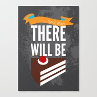 glados Canvas Prints featuring ...and then, there will be cake. by Created by Kristin