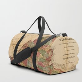 Map of Virginia (1871) Duffle Bag