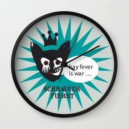 schraegerfuerst, hay fever is war Wall Clock