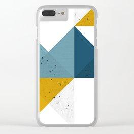 Modern Geometric 19 Clear iPhone Case