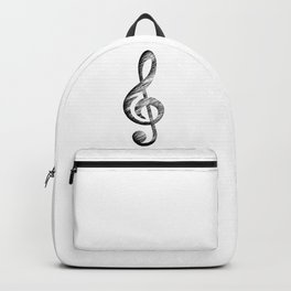 Distressed Music Clef Backpack